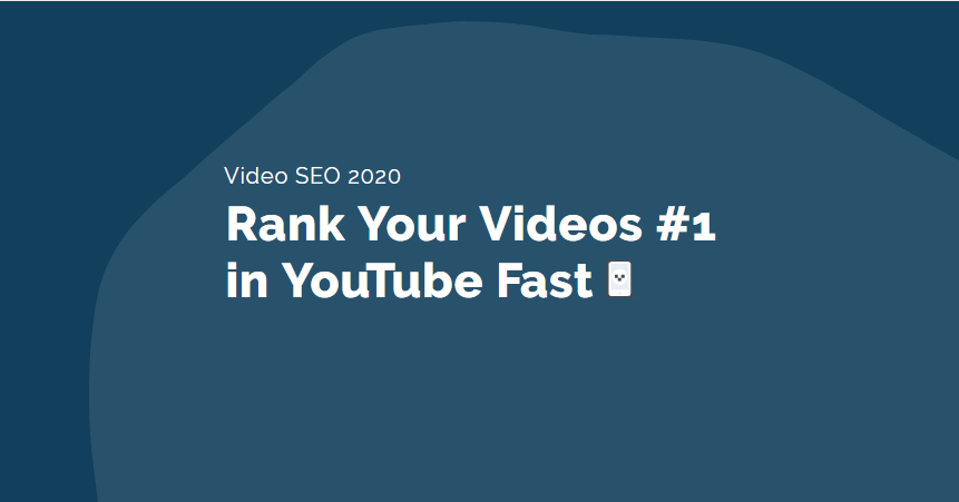 Rank Your Videos #1 in YouTube Fast - Video SEO 2020